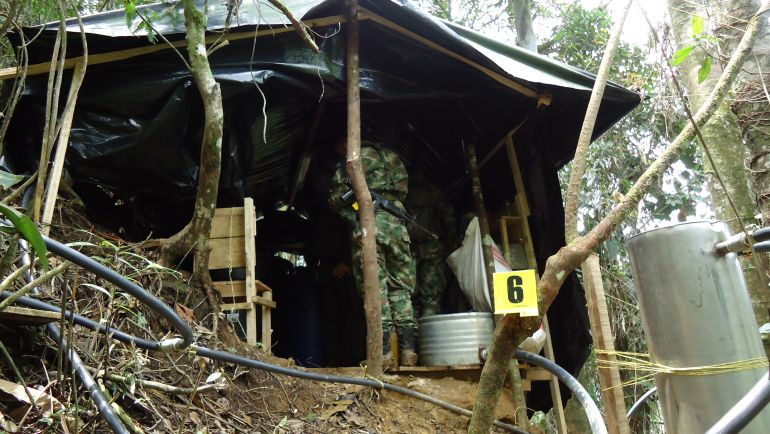 Destruyen laboratorio clandestino para procesamiento de cocaína en Boyacá: Destruyen laboratorio clandestino para procesamiento de cocaína en Boyacá