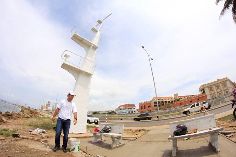 Monumento del mástil en el sector turístico de Cartagena avanza satisfactoriamente