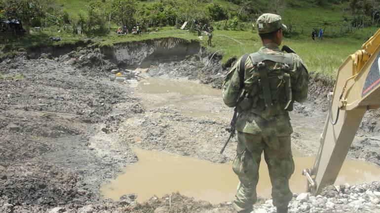 Redada contra la minería ilegal en Antioquia deja 13 capturados