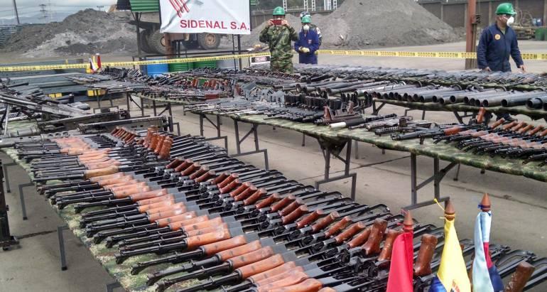 Más de 15.000 armas se funden en Boyacá para usarse en obras civiles