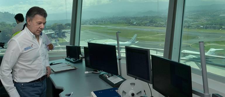 Presidente juan Manuel Santos Aeropuerto en Dorado: Presidente Santos inaugurará torre de control en el aeropuerto El Dorado