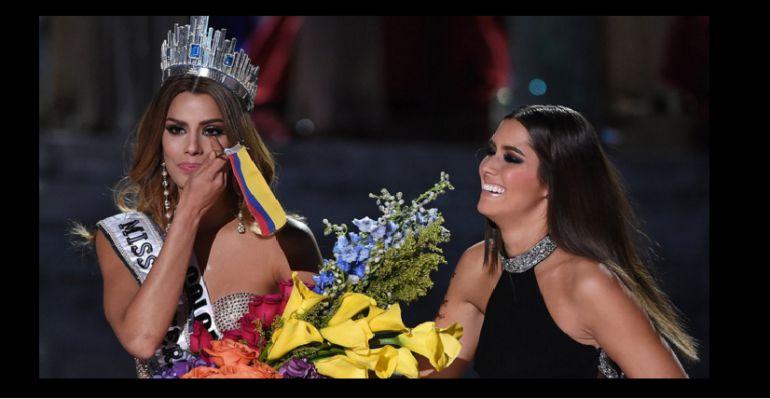 Momentos en que se rectificó el nombre de la nueva Miss Universo.