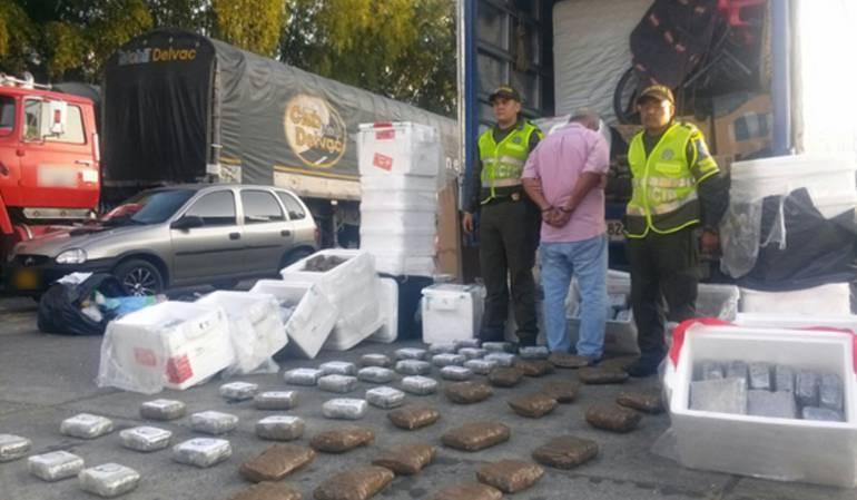 En el último año la policía del Quindío decomisó 3 toneladas de marihuana.