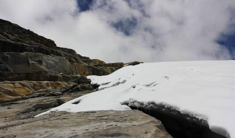 Por aumento de temperatura el glaciar de la Sierra Nevada de El Cocuy está en 'vía de extinción': Por aumento de temperatura el glaciar de la Sierra Nevada de El Cocuy está en 'vía de extinción'