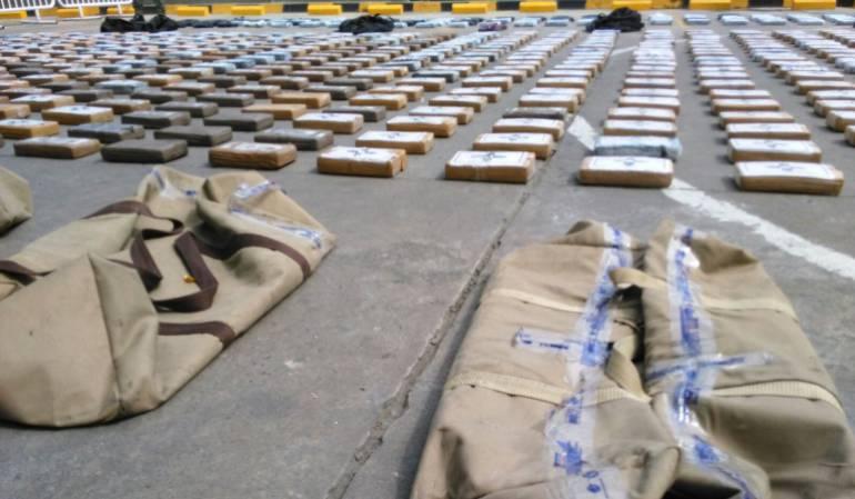 Policía incauta 1.335 kilos de cocaína en Cartagena
