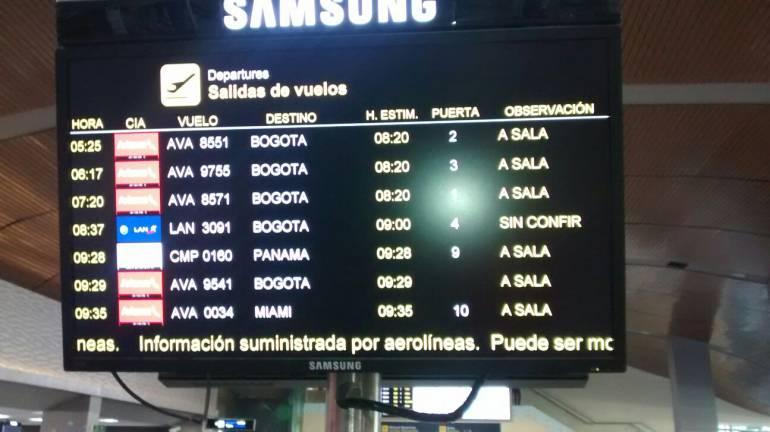 Niebla en Bogotá afectó la salida de cinco vuelos desde Cartagena