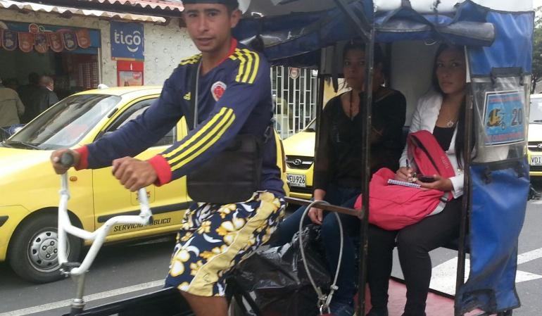 Bicitaxis en Bogotá.