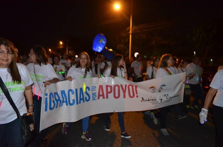 Marcha a favor de los niños con cáncer