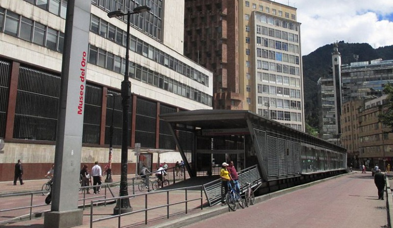 Eje Ambiental Transmilenio Estación Museo del Oro: Transmilenio volverá a circular normalmente por el Eje Ambiental de Bogotá