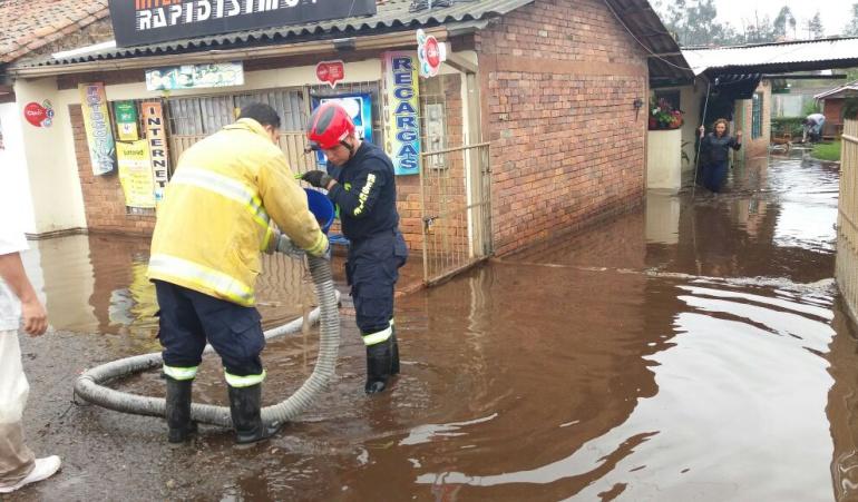 Caos en Sogamoso debido a las fuertes lluvias: Caos en Sogamoso debido a las fuertes lluvias