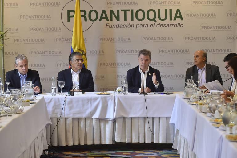 Presidente Santos en asamblea de Proantioquia.