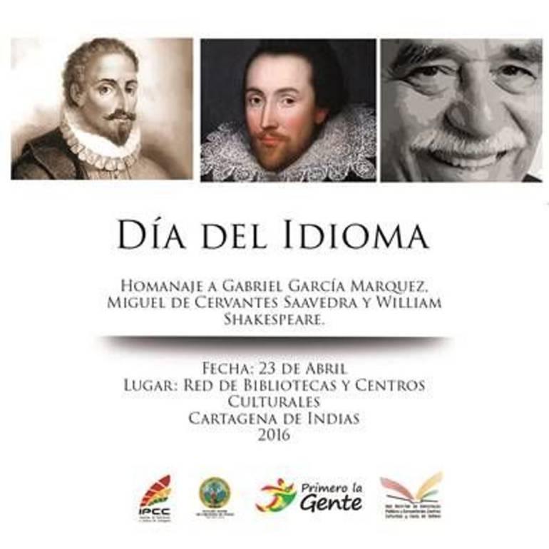 Celebración del Día del Idioma en Cartagena homenajea a Shakespeare, Cervantes y Gabo