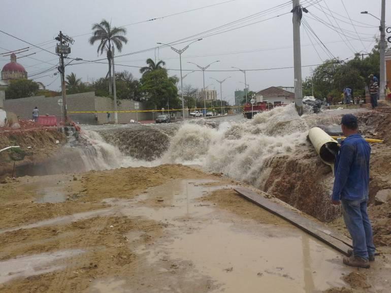 Emergencia en el arroyo de 'La Felicidad' en Barranquilla