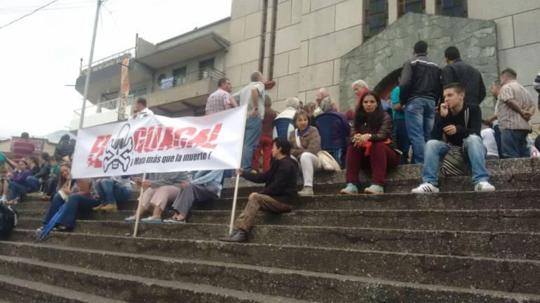 Protesta en Medellín por relleno sanitario El Guacal.