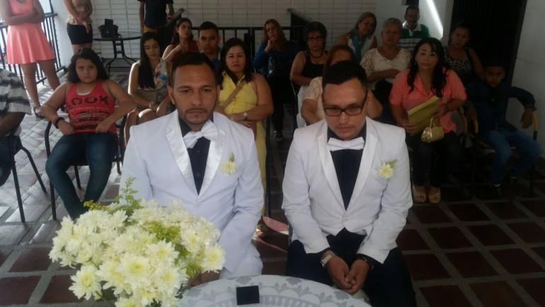 gay: Un estilista y un administrador de empresas, la primera pareja gay en Colombia que se casó en Cali