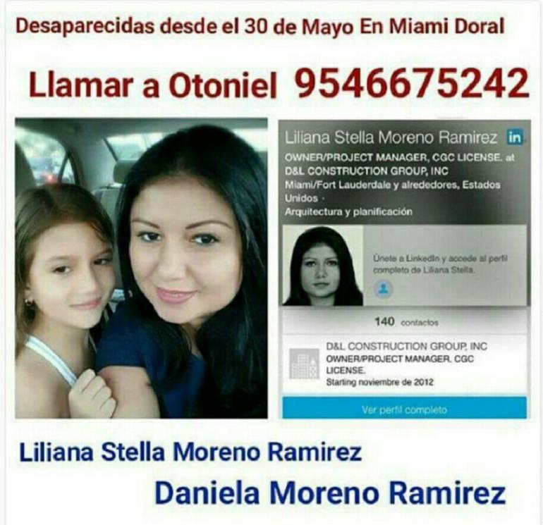 Personas desaparecidas: En Miami (EE.UU.) desaparecida caleña con su pequeña hija