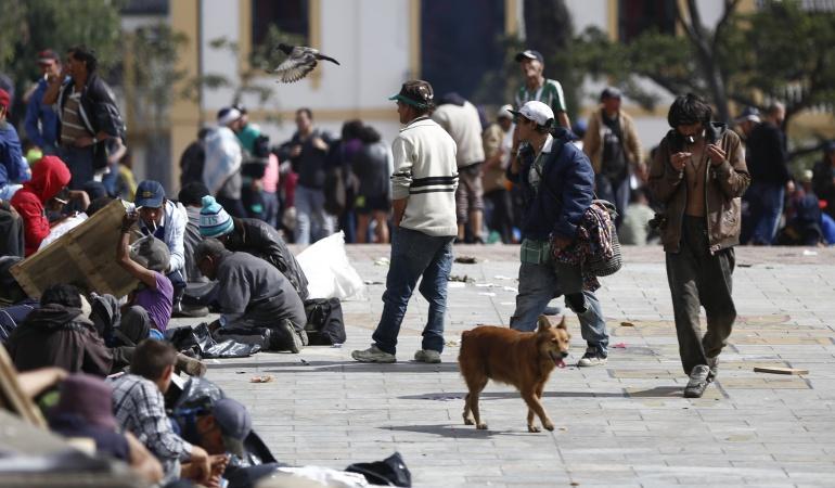 Habitantes de calle piden trato digno: Desde el Congreso habitantes de calle piden trato digno