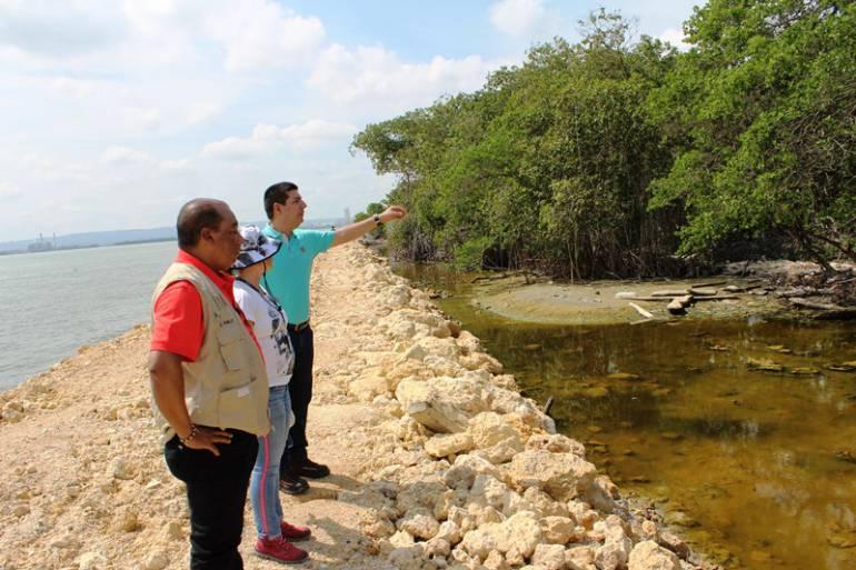 Cardique Tierrabomba Cartagena: Cardique suspende obras de un sector de línea de costa de Tierrabomba en Cartagena
