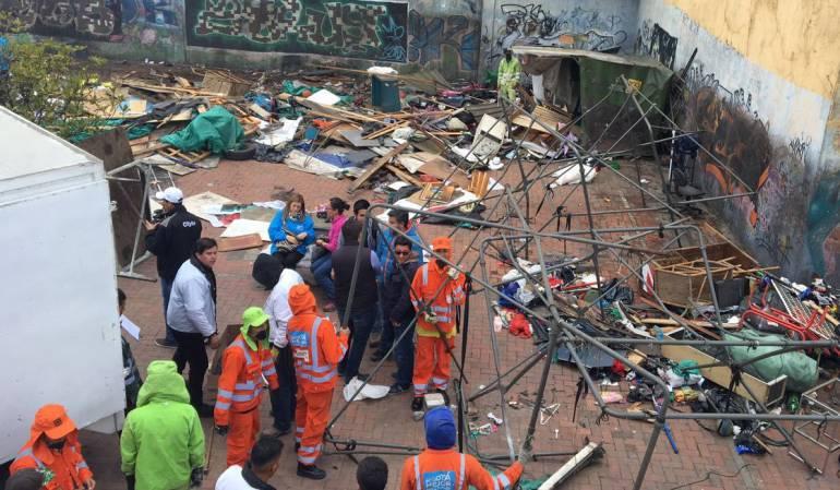 DIstrito adelanta acciones de recuperación del estado público en Bogotá: Distrito recupera espacio público del barrio Ricaurte en Bogotá