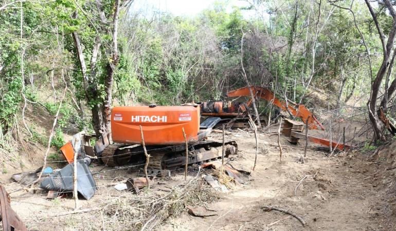 Ofensiva contra la minería ilegal en el sur del Cauca: Destruyen maquinaria utilizada para minería ilegal en el Cauca