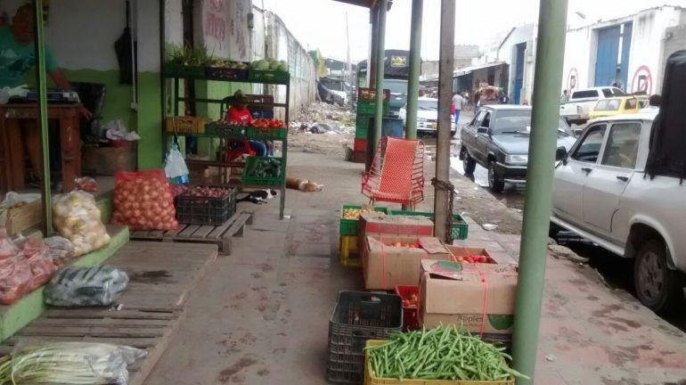 Sector de Barranquillita en el mercado de la capital del Atlántico.