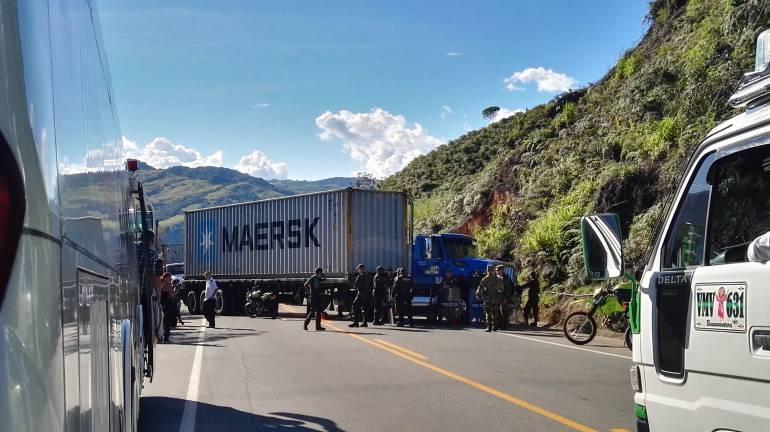 Bloqueo de la troncal Medellín- Costa Atlántica en Yarumal