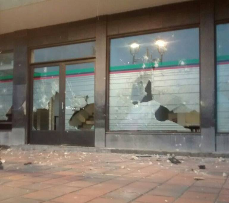 Manifestantes atacaron la alcaldía de Duitama, Boyacá: Manifestantes atacaron la alcaldía de Duitama, Boyacá