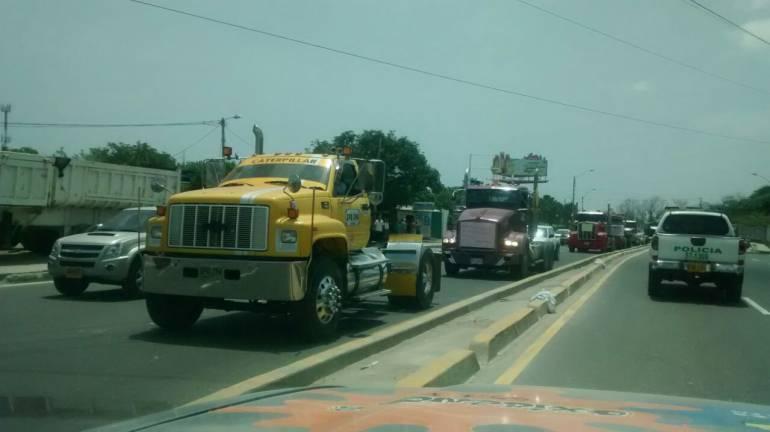 Muere un joven en medio de una manifestación de camioneros en Colombia