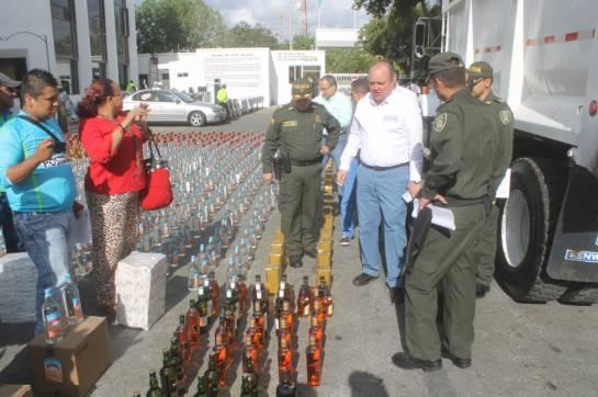 Productos ilegales Parley: Polfa y Rentas combaten la comercialización de productos y juegos de azar ilegales en La Guajira