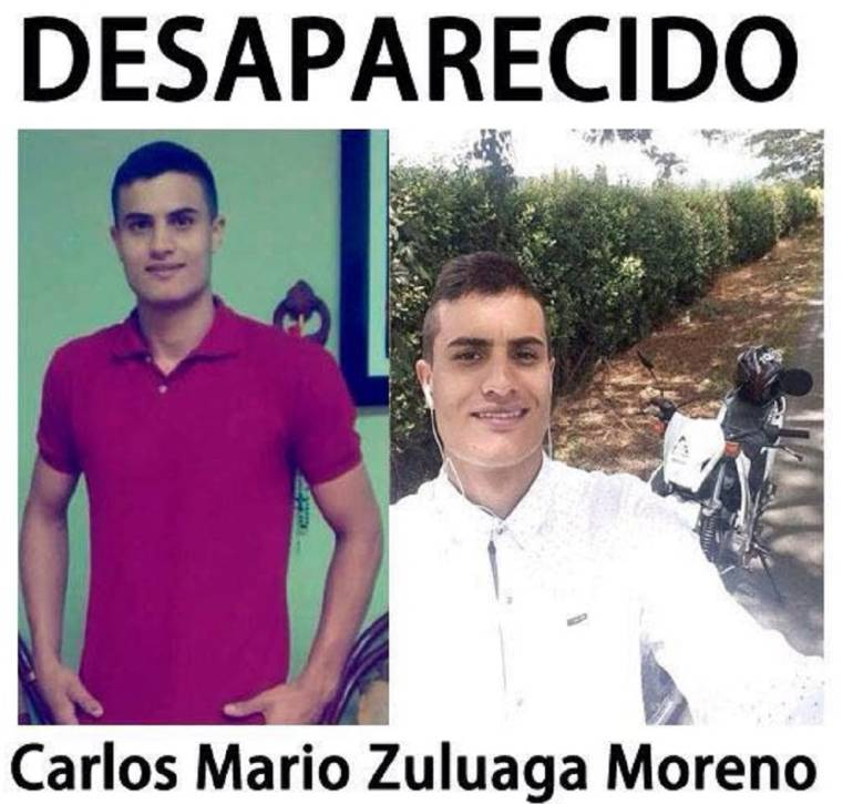 Personas desaparecidas: Carlos Mario Zuluaga, desapareció el 23 de Julio