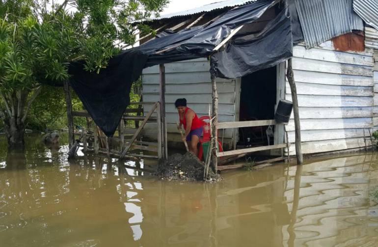 INVIERNO: Por intensas lluvias, unas 100 familias sufren inundaciones en Nechí, Antioquia