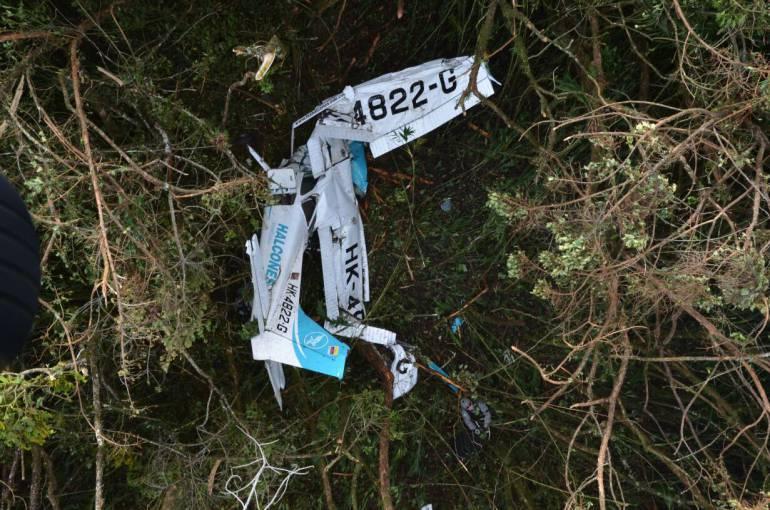 ACCIDENTE AVIONETA: Una persona sobrevivió en accidente de avioneta en suroeste de Antioquia