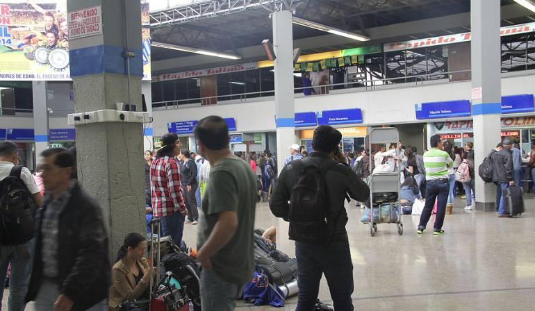 Terminal de Transporte Bogotá: Más de 100.000 personas saldrán de Bogotá desde las Terminales de Transporte