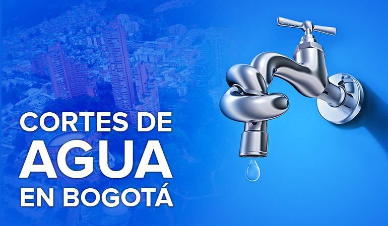 Cortes de agua en Bogotá: Consulte los cortes de agua