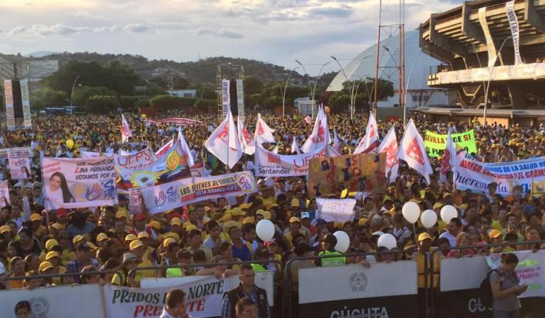 """Cucuteños marcharon apoyando el """"SI"""" en el plebiscito"""