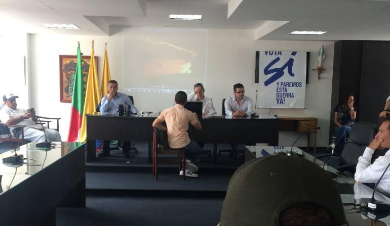 En el departamento de Caldas se desarrollaron las caravanas por la Paz: Zona Centro de Sur de Caldas le dijo Si a la Paz