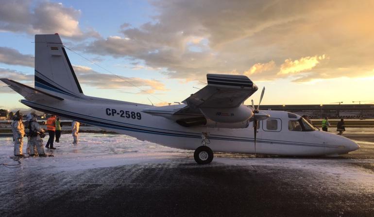 Accidentes aéreos: Avioneta aterriza de emergencia en el aeropuerto El Dorado