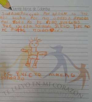 Cartas de gratitud de niños de Medellín serán enviadas a soldados