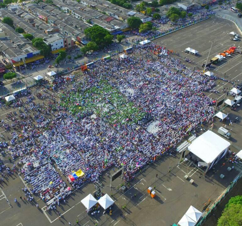 Apoyo  por el Si al plebiscito en Barranquilla