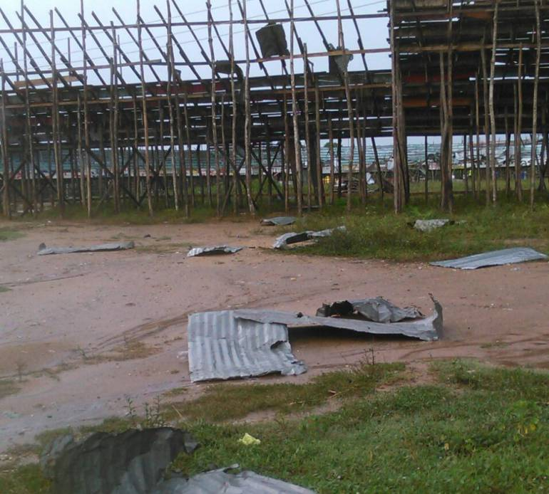 Lluvias con fuertes brisas en Sabanalarga: Fuertes brisas afectaron servicio de energía en siete municipios