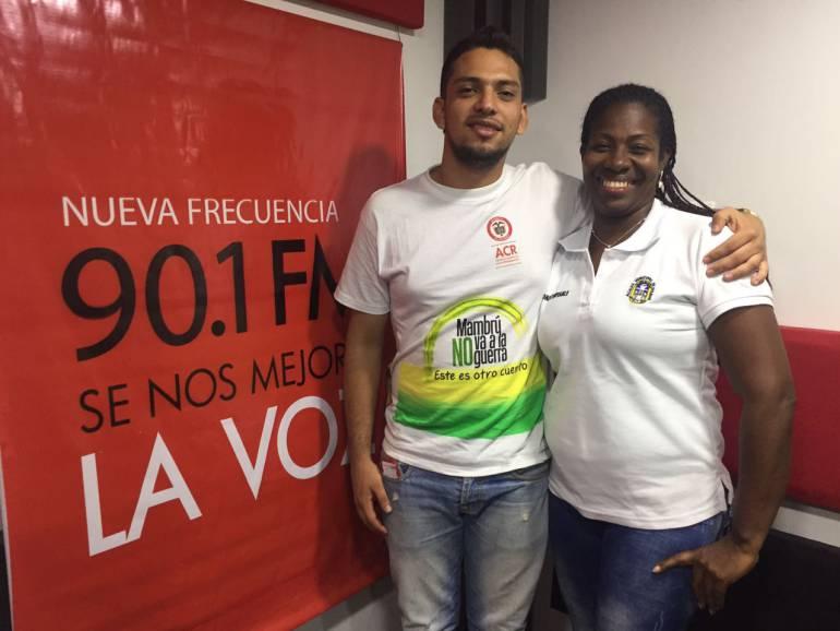 Dos desmovilizados son los personajes de la semana en Caracol Barranquilla: Nelly y Robinson, de víctimas a mensajeros de paz