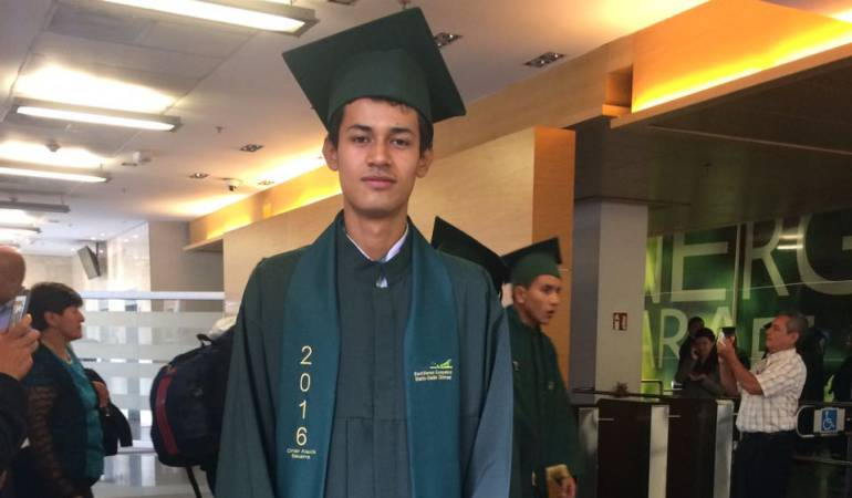 Omar Alexis Becerra Sierra de 17 años fue becado por Ecopetrol
