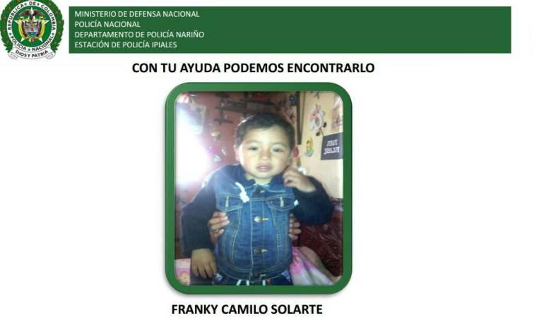 Encuentran muerto a niño desaparecido en Ipiales Nariño: Consternación en Nariño por asesinato de niño de dos años en Ipiales