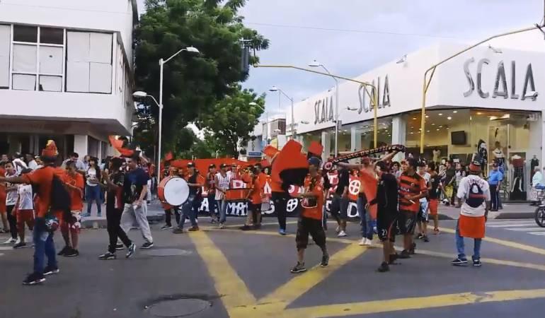 Hinchas del Cúcuta Deportivo marcharon por la situación del equipo