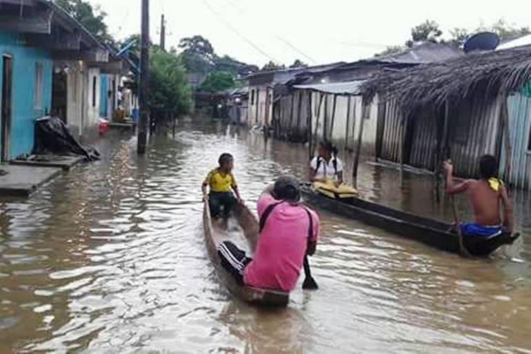 Desbordamiento del río Cauca en Bolívar provoca inundaciones en San Jacinto del Cauca - Caracol Radio
