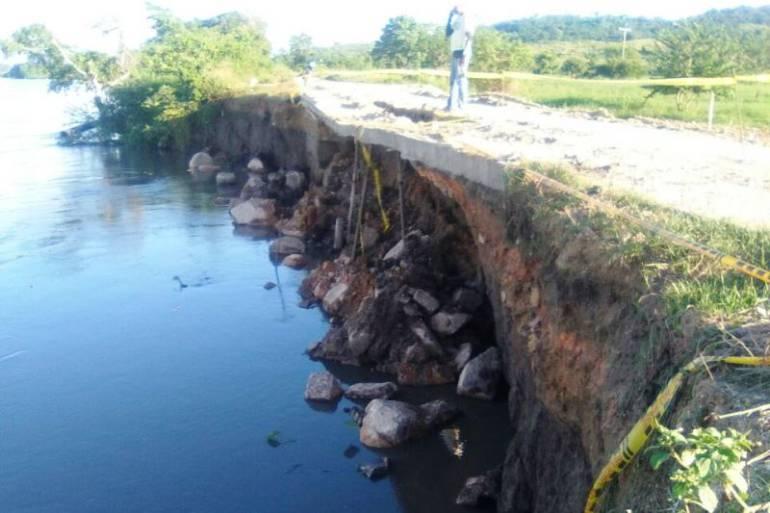 Municipio del Peñón en Bolívar a punto de quedar incomunicado por erosión: Municipio del Peñón en Bolívar a punto de quedar incomunicado por erosión