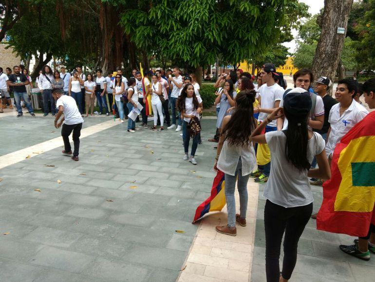 Los jóvenes en Barranquilla han expresado su respaldo al acuerdo de paz.