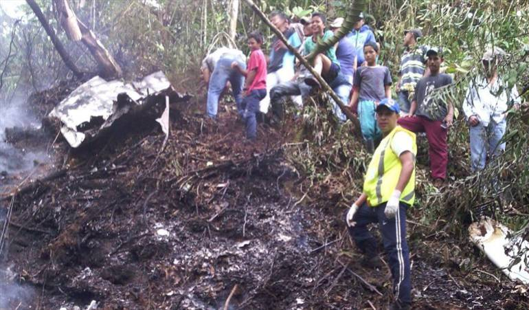 Avioneta se estrelló en Frontino, Antioquia