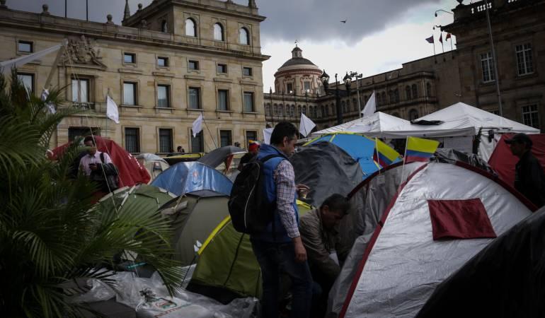 Personería desmiente señalamientos de abusos en el desalojo del campamento por la paz: Personería confirmó que no hubo abuso de la fuerza pública en el desalojo del campamento de la paz