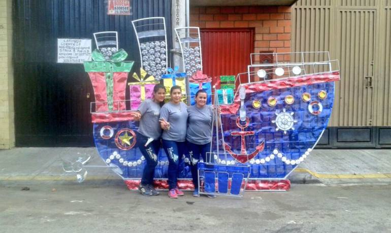 Bucaramanga santander alumbrado navide o essa epm este for Mural navideno